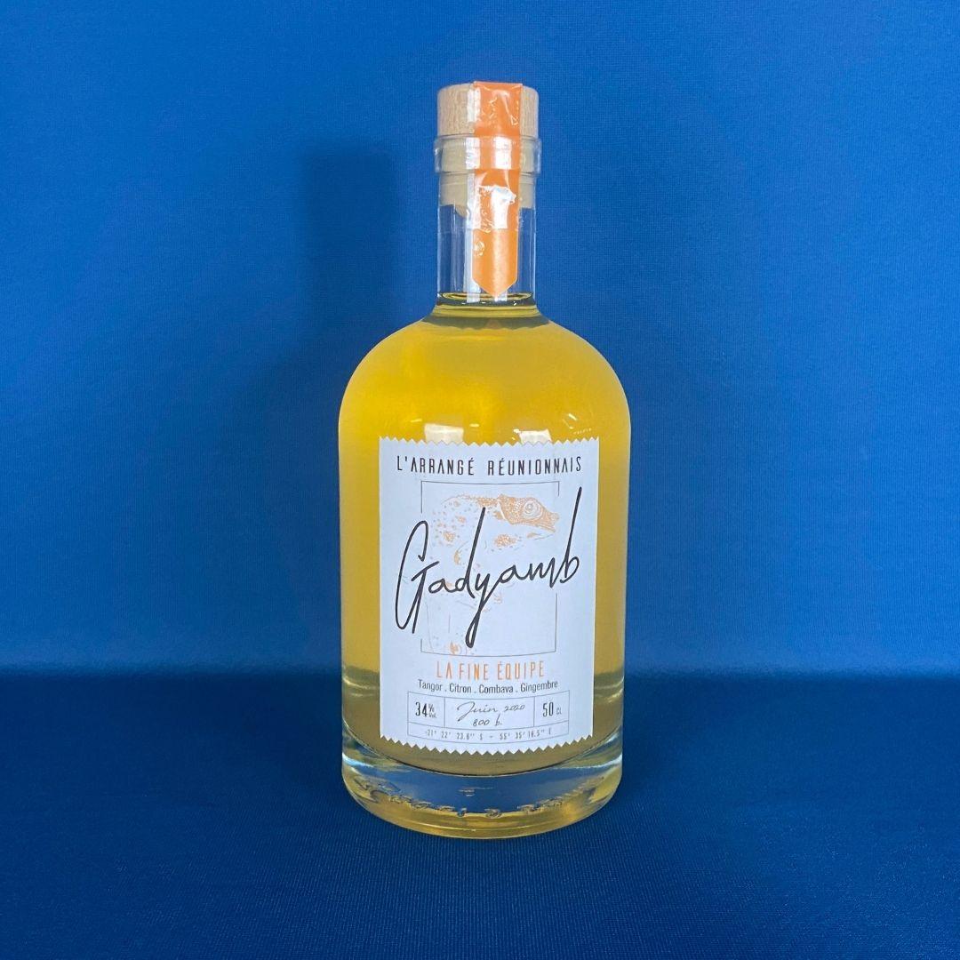 Produits de la Réunion - Rhum arrangé Tangor citron combava gingembre 50 cl